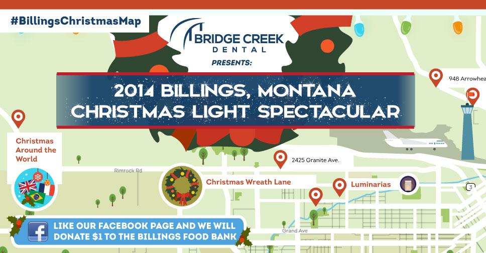The 2014 Billings, MT Christmas Light Spectacular Map | Bridge Creek ...